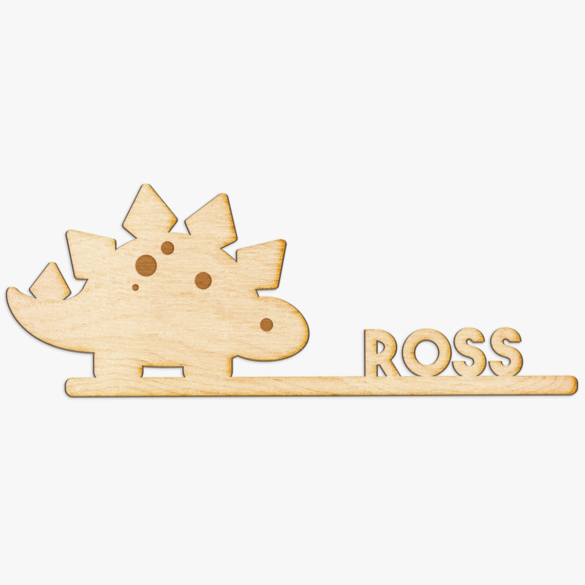 Dinosaur Name Custom Wood Cut Sign