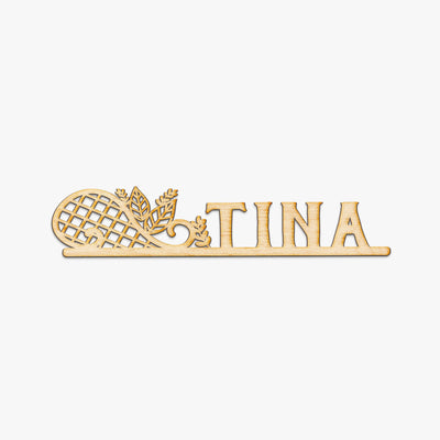 Lattice Name Custom Wood Cut Sign