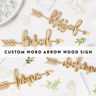 Custom Word Arrow Wood Sign
