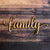 Family Script Wood Cut Sign