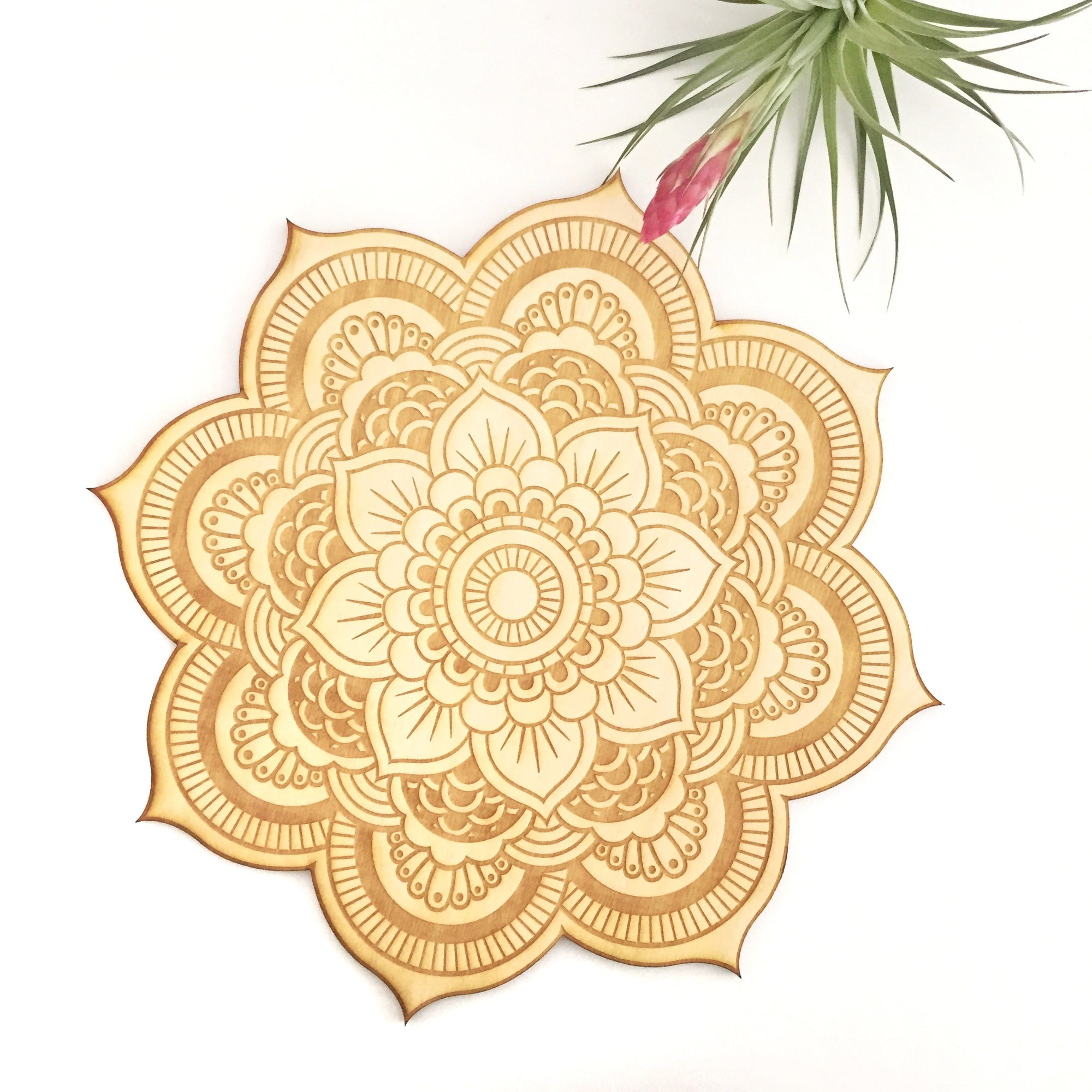 Floral Mandala Wood Sign
