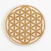 Flower of Life Engraved Wood Sign