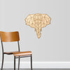 Geometric Elephant Engraved Cut Wood Sign