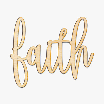 Hand Drawn Faith Wood Sign