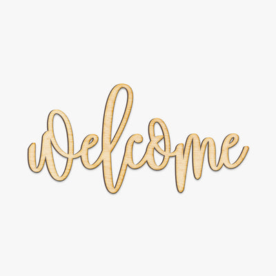 Hand Drawn Welcome Wood Sign