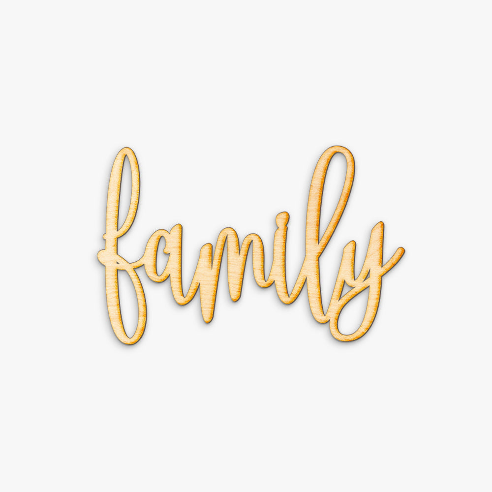 Hand Drawn Family Wood Sign