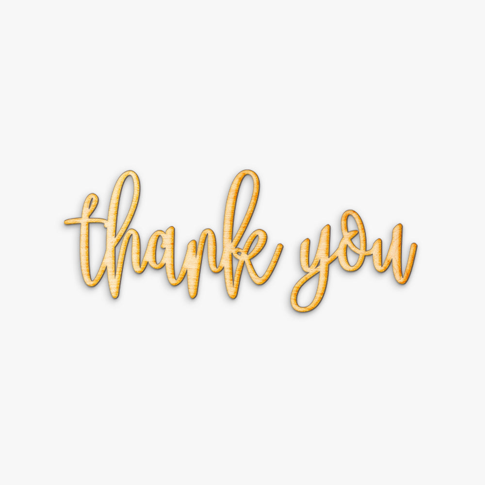 Hand Drawn Thank You Wood Sign