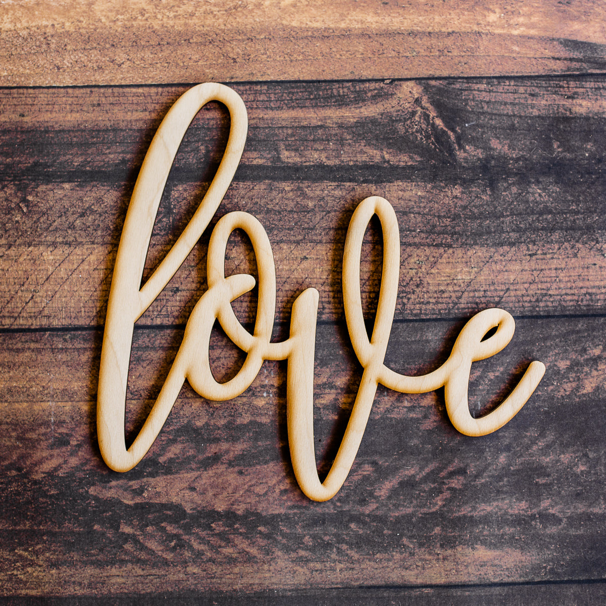 Hand Drawn Love Wood Sign