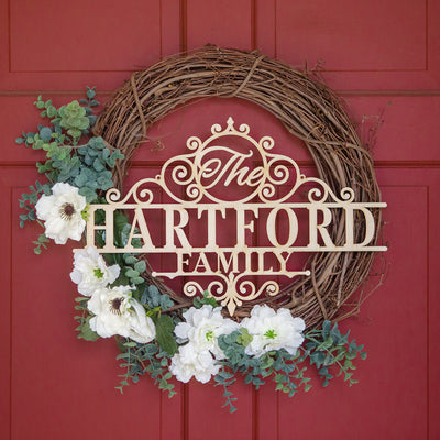 Hartford Family Name Custom Wood Sign