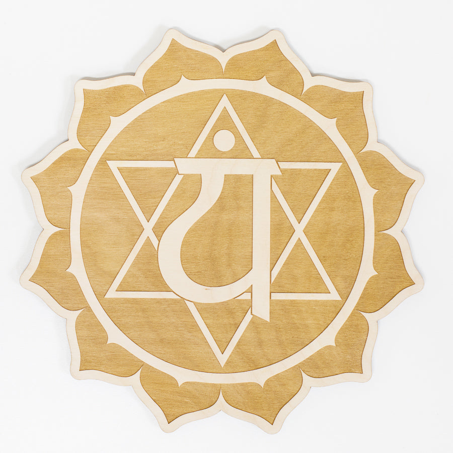 Heart Chakra Engraved Wood Sign