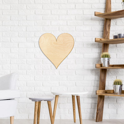 Heart Cut Wood Sign