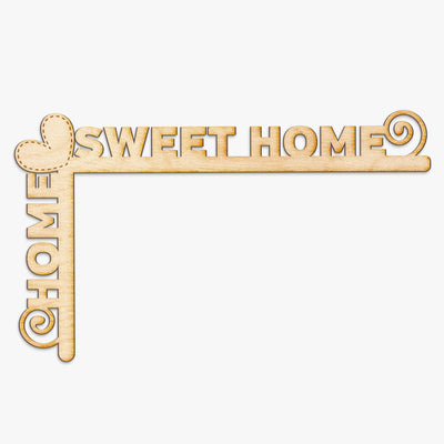 Home Sweet Home Wood Door Topper
