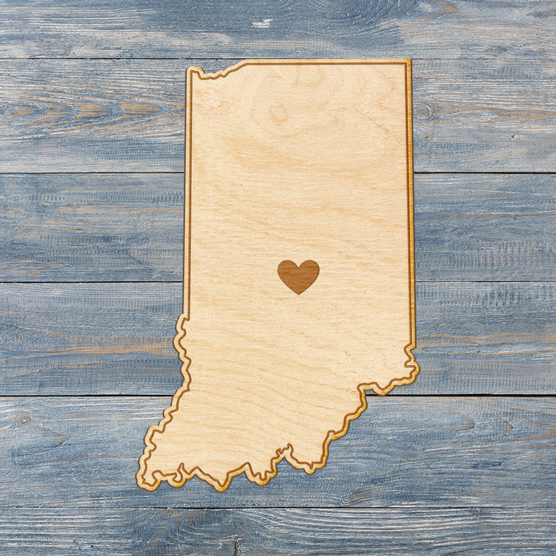 Indiana Cut Sign With Custom Engraved Heart Placement