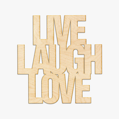 Live Laugh Love Wood Sign