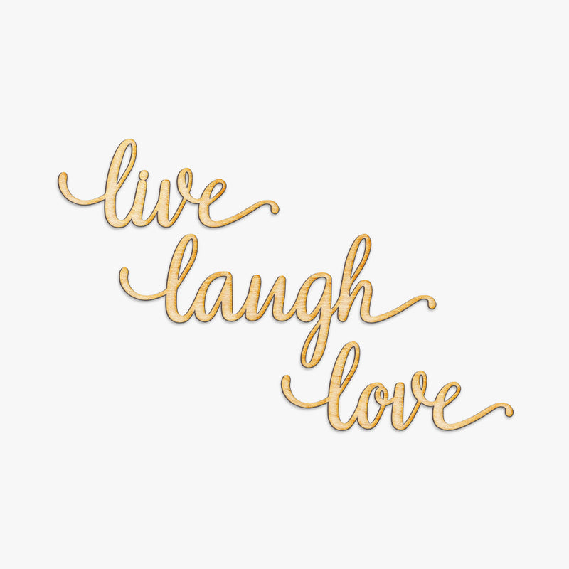 Live Love Laugh Wood Cut Set