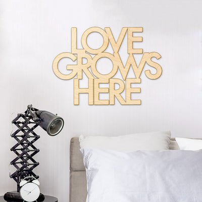 Love Grows Here Wood Sign