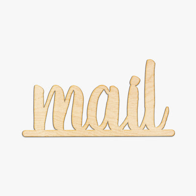 Mail Script Wood Sign
