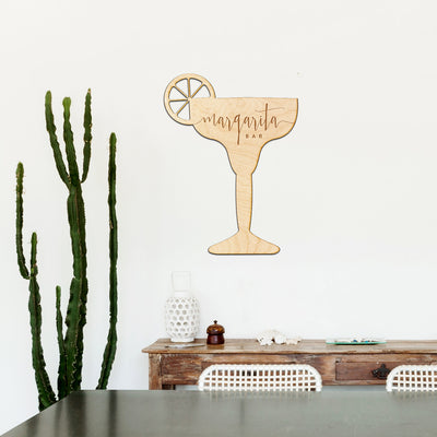 Margarita Bar Engraved Wood Sign
