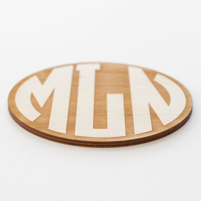 Circle Monogram Engraved Wood Sign