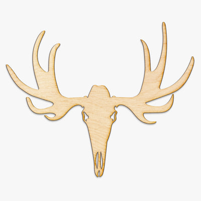 Moose Skull Wood Cut