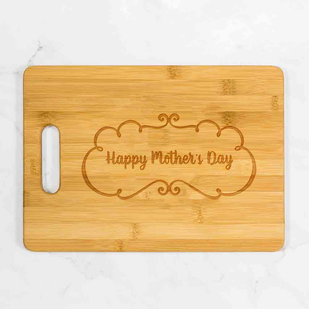"Happy Mother's Day Cutting Board with Handle 13.75"" x 9.75"""