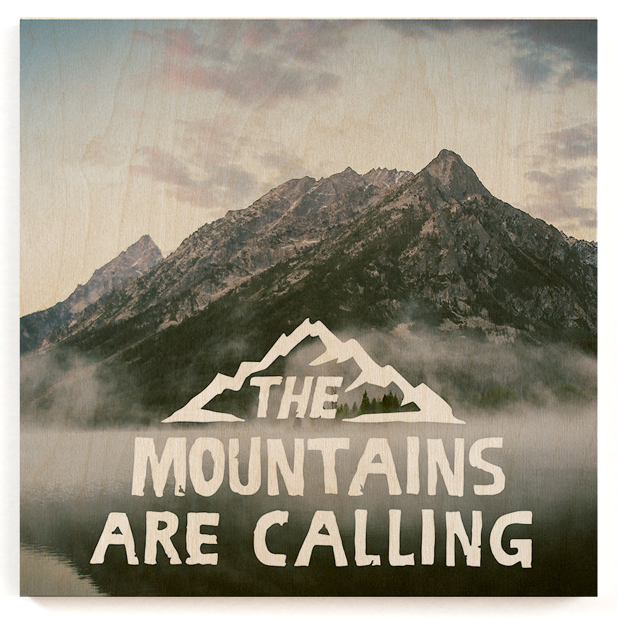 Mountains Calling Wood Print