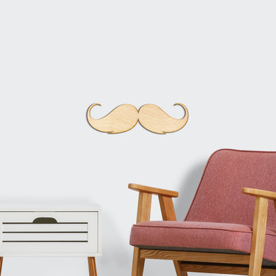 Moustache Wood Cut