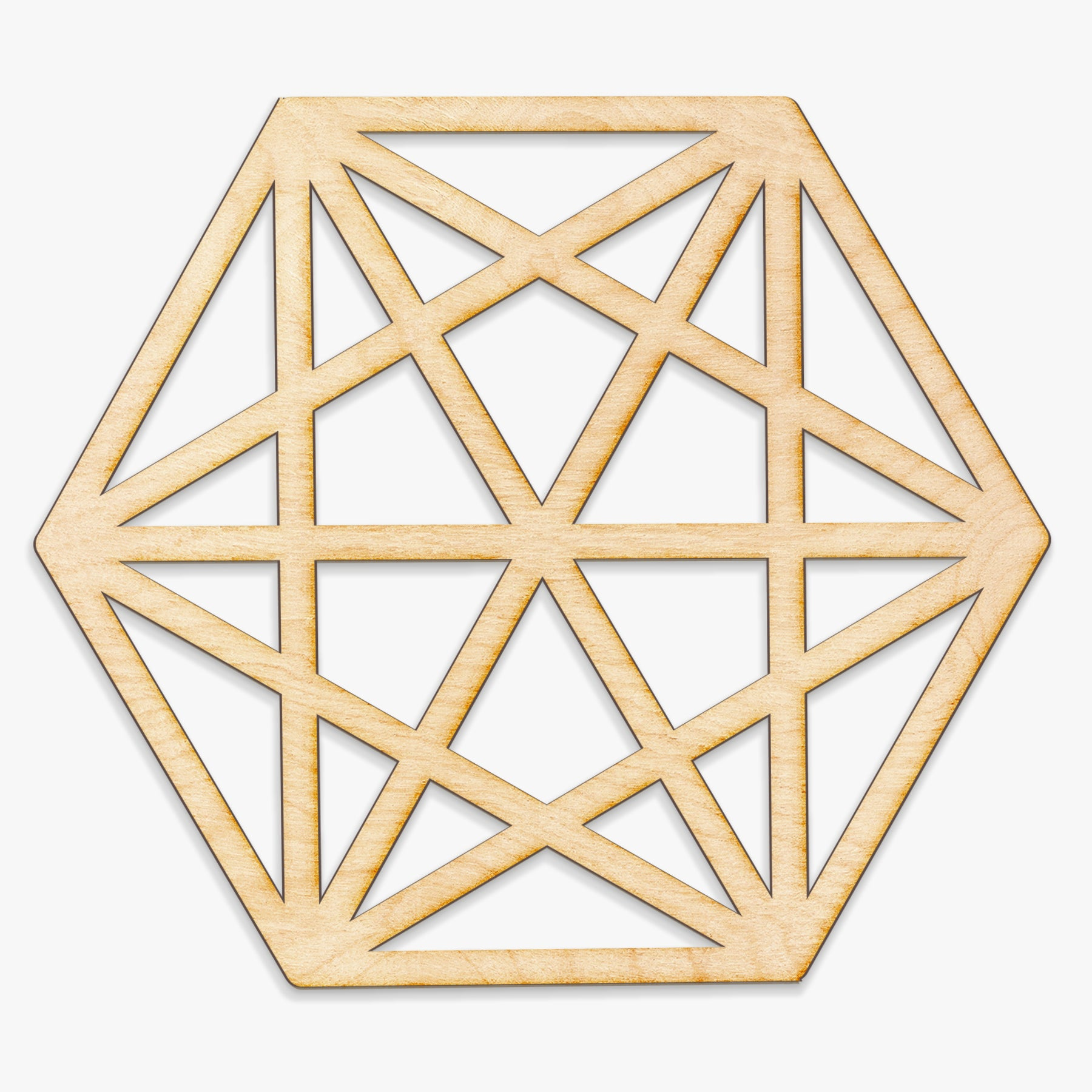 Octahedron Wood Cut