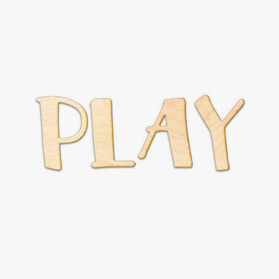 PLAY Wood Letters