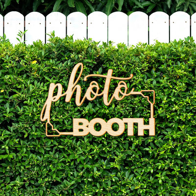 Photo Booth Wood Sign