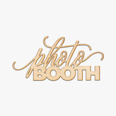 Photo Booth Wood Sign - Lia Script Style