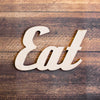 Retro Eat Wood Sign