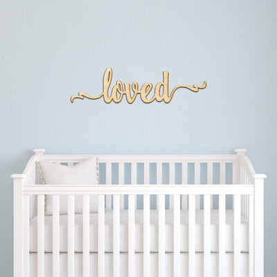 Custom Ribbon Script Word Wood Sign