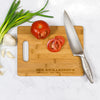 "Richardson - Personalized Bamboo Cutting Board with Handle 13.75"" x 9.75"""