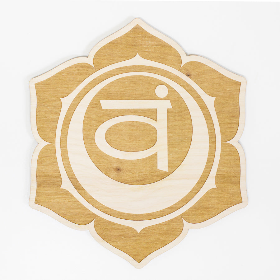 Sacral Chakra Engraved Wood Sign