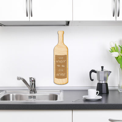 Drink Wine Engraved Wood Sign