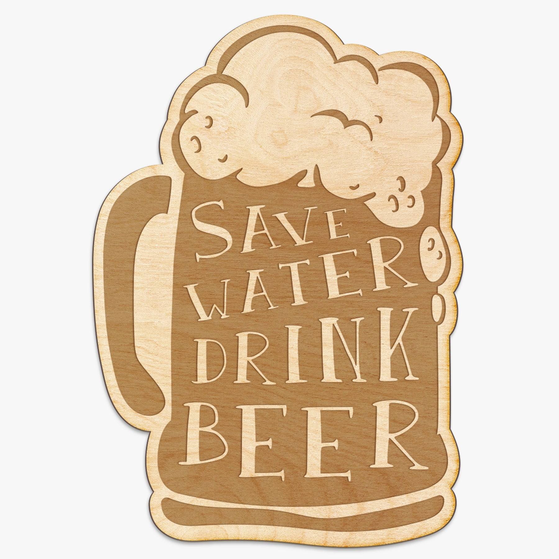 Save Water Drink Beer Engraved Wood Sign