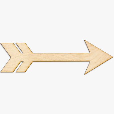 Cut Out Arrow Wood Sign