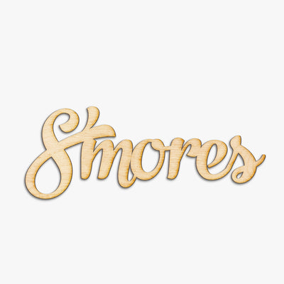 S'mores Wood Cut Sign