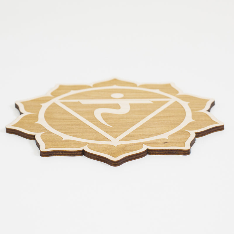 Solar Plexus Chakra Engraved Wood Sign