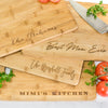 "Personalized Bamboo Cutting Board with Handle 13.75"" x 9.75"""