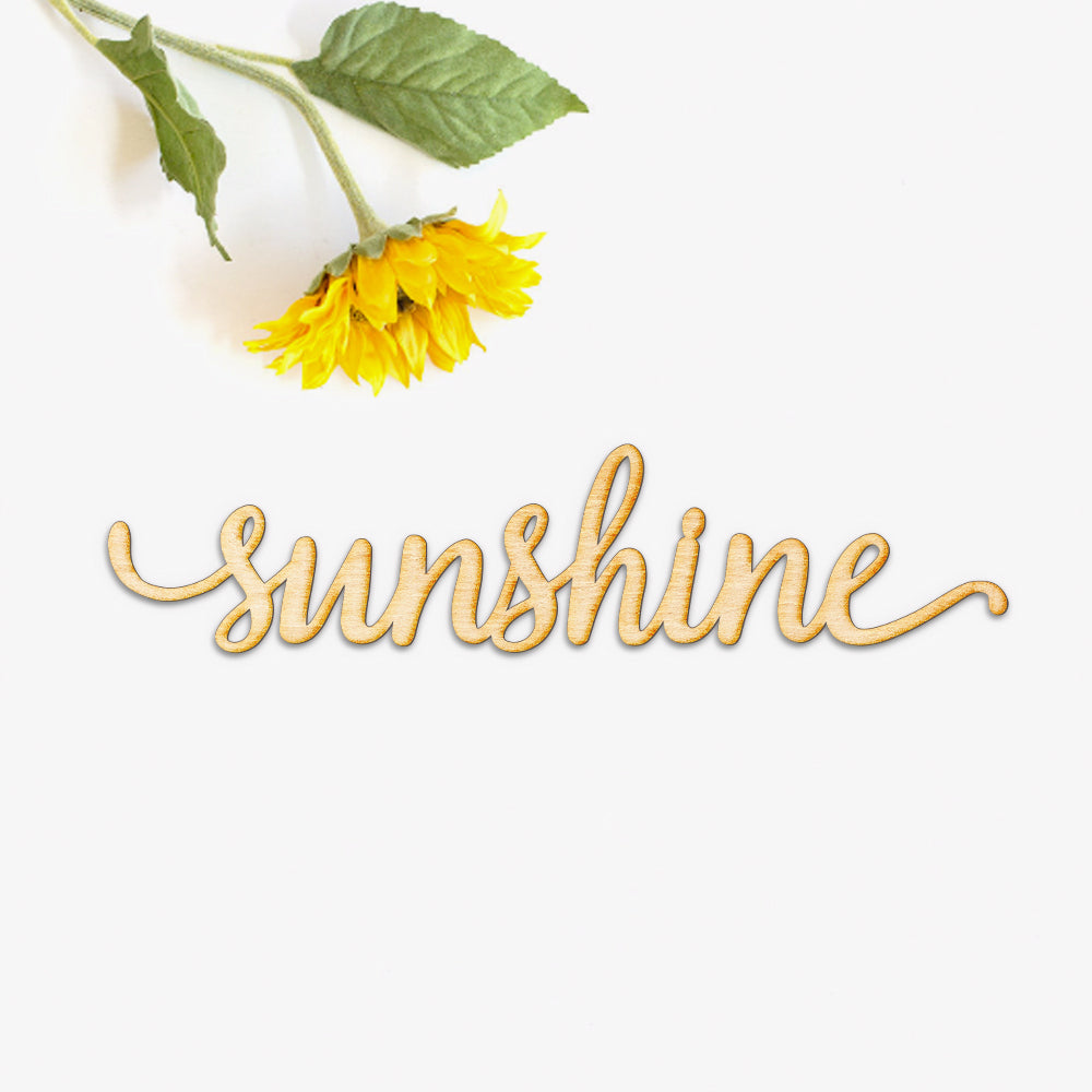 Sunshine Script Word Wood Sign