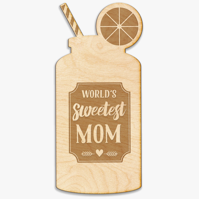 Sweet Tea Mom Engraved Wood Sign