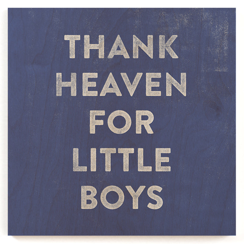 Thank Little Boys Wood Print
