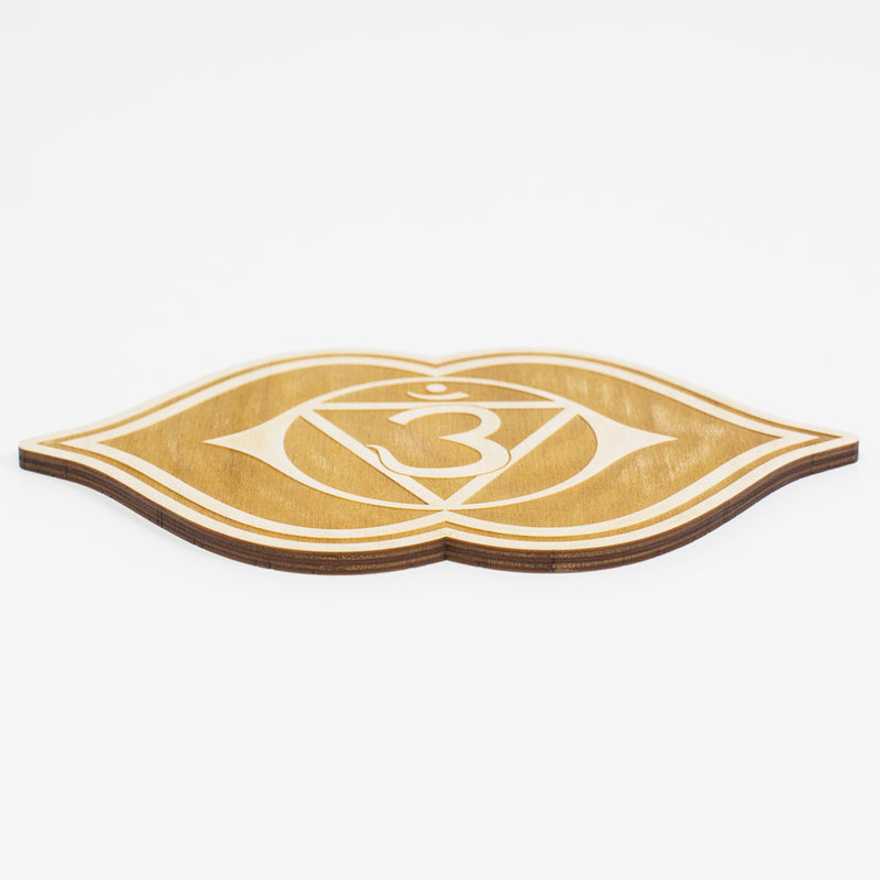 Third Eye Chakra Engraved Wood Sign
