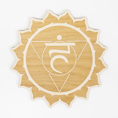Throat Chakra Engraved Wood Sign