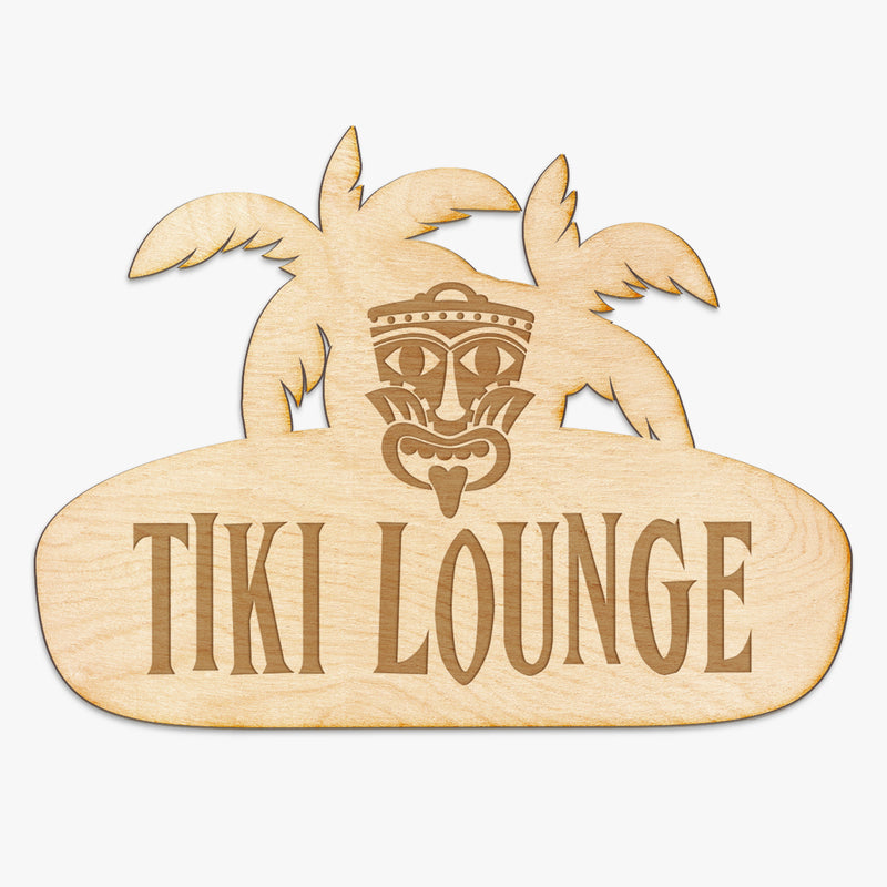 Tiki Lounge - Wood Engraved Sign