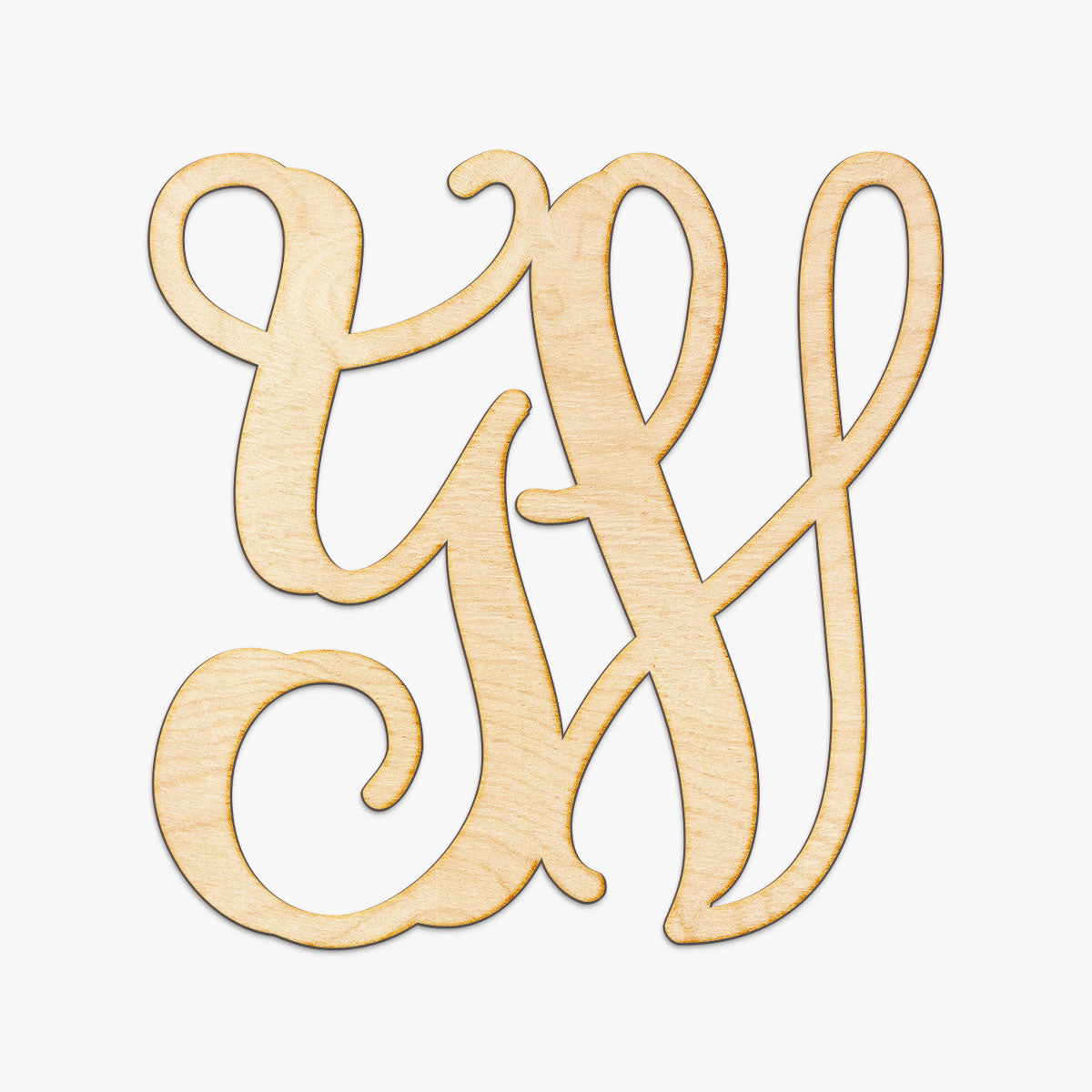 Vine Initials Monogram Wood Sign