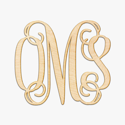 Vine Monogram Wood Letters