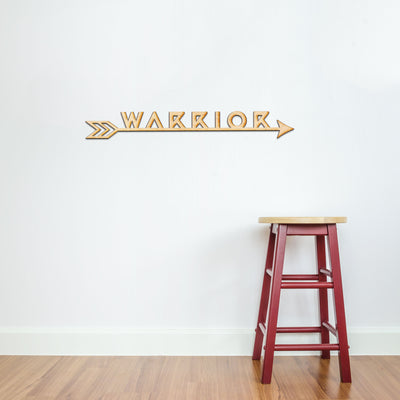 Warrior Arrow Wood Sign